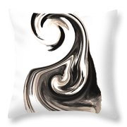 Melting In Ink Throw Pillow by Mike Grubb