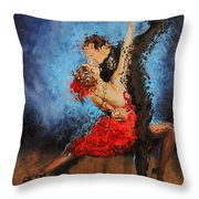 Melting Throw Pillow by Karina Llergo