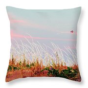 Memorial Day By The Sea Throw Pillow by Susan Carella