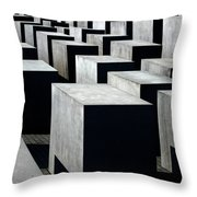 Memorial To The Murdered Jews Of Europe Throw Pillow by RicardMN Photography