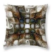 Memory Boxes-fractal Art Throw Pillow by Karin Kuhlmann