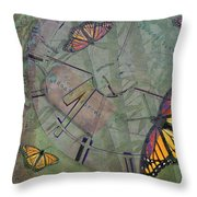Memory Is Fleeting Memories Persist Throw Pillow by Marianne Campolongo