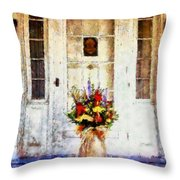 Memory Lane Throw Pillow by Janine Riley