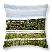 Menemsha Memories Throw Pillow by Michelle Wiarda