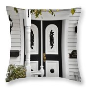 Menomonee Street Old Town Chicago Throw Pillow by Christine Till
