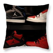 Men's Sports Shoes - 5D20653 Throw Pillow by Wingsdomain Art and Photography