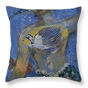 Mermaid Throw Pillow by Avonelle Kelsey