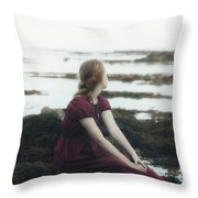 Mermaid Throw Pillow by Joana Kruse
