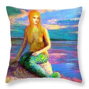 Mermaid Magic Throw Pillow by Jane Small