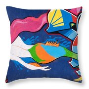 Mermaid Throw Pillow by Rick Piper Photography