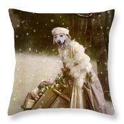 Merry Christmas Throw Pillow by Martine Roch
