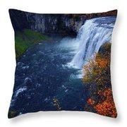 Mesa Falls Throw Pillow by Raymond Salani III