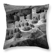 Mesa Verde Monochrome Throw Pillow by Bob Christopher