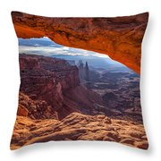 Mesa's View Throw Pillow by Darren  White