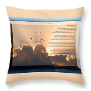 Message From Heaven Throw Pillow by Carolyn Marshall