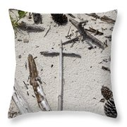 Message In The Sand Throw Pillow by Benanne Stiens