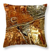 Metallic Ice Throw Pillow by Chris Berry