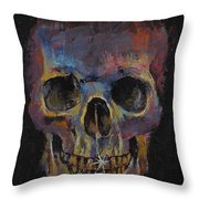 Skull Throw Pillow by Michael Creese