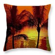 Metallic Sunset Throw Pillow by Athala Carole Bruckner