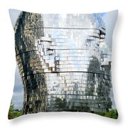 Metalmorphosis Left Side Throw Pillow by Randall Weidner
