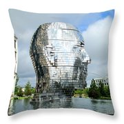 Metalmorphosis Side Context Throw Pillow by Randall Weidner
