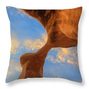 Metate Arch Sunset Throw Pillow by Dustin  LeFevre