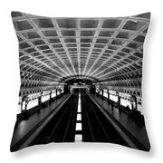 Metro Throw Pillow by Greg Fortier