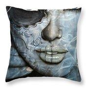 'Mettalic Messiah' Throw Pillow by Christian Chapman Art