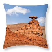 Mexican Hat Rock Throw Pillow by Christine Till