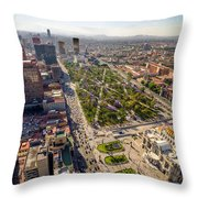 Mexico City Aerial View Throw Pillow by Jess Kraft