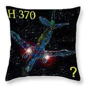 Mh 370 Mystery Throw Pillow by David Lee Thompson