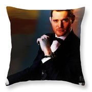 Michael Buble Throw Pillow by Marvin Blaine
