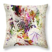 Michael Jordan Throw Pillow by Aged Pixel