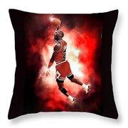 Michael Jordan Throw Pillow by NIcholas Grunas Cassidy