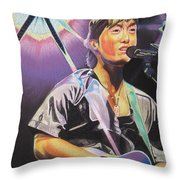 Micheal Kang Throw Pillow by Joshua Morton