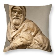Michelangelo's Final Pieta Throw Pillow by Melany Sarafis