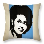Michelle Obama Throw Pillow by Cora Wandel
