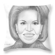 Michelle Obama Throw Pillow by Jose Valeriano