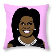 Michelle Obama Throw Pillow by Jost Houk