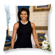 Michelle Obama Throw Pillow by Official White House Photo