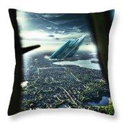 Michigan 2050 Throw Pillow by Nicholas  Grunas