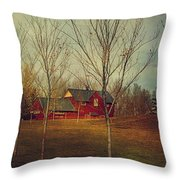 Midnapore Station - 1910 Throw Pillow by Maria Angelica Maira