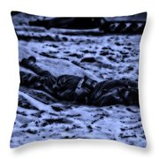 Midnight Battle All Alone Throw Pillow by Thomas Woolworth