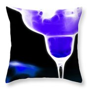 Midnight Blue Margarita Breeze Throw Pillow by Wingsdomain Art and Photography