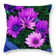 Midnight Blue Throw Pillow by Mo T