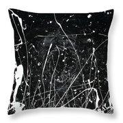 Midnight Weeds Throw Pillow by Ric Bascobert
