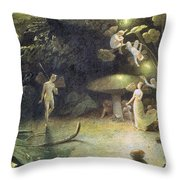 Midsummer's Night Dream Throw Pillow by Francis Danby