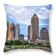 Midtown Atlanta Too Throw Pillow by Reid Callaway