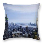 Midtown Manhattan Throw Pillow by Ray Warren