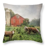 Mifflintown Farm Throw Pillow by Lori Deiter